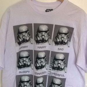 NWT Star Wars Stormtrooper Emotions Tee